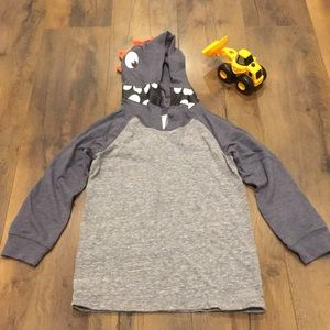 Carter's size 4 grey and blue monster hoodie